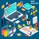 Data Analysis Isometric - GraphicRiver Item for Sale