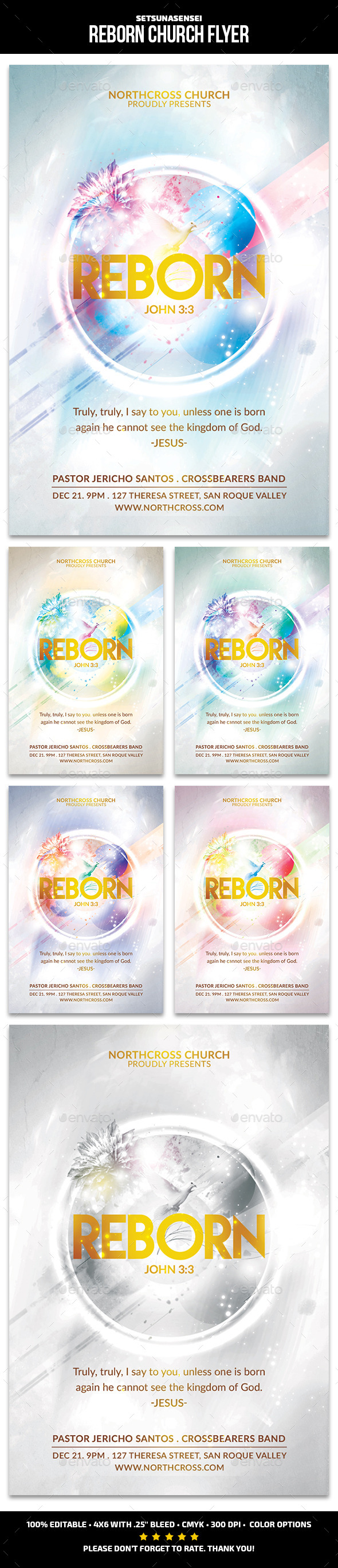 GraphicRiver Reborn Church Flyer 9606429