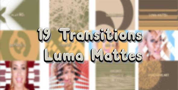 VideoHive 19 Transitions Luma Mattes 9606431