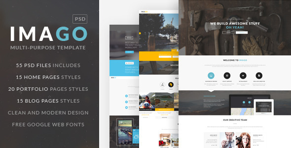 ThemeForest IMAGO Multipurpose PSD Template 9479097