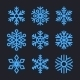 Snowflakes Set for Christmas Winter Design - GraphicRiver Item for Sale
