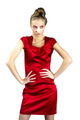 Sexy slim woman in red dress - PhotoDune Item for Sale