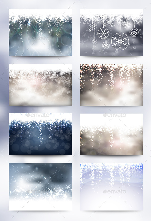 GraphicRiver 8 Christmas Backgrounds 9606797