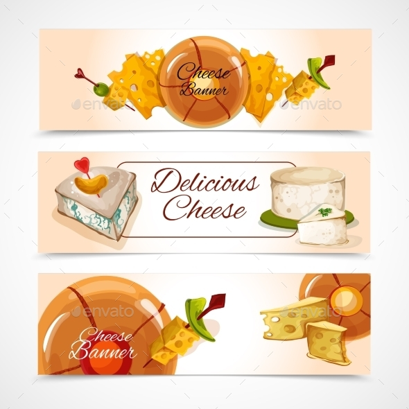 GraphicRiver Cheese Banners Horizontal 9606922
