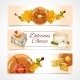 Cheese Banners Horizontal - GraphicRiver Item for Sale