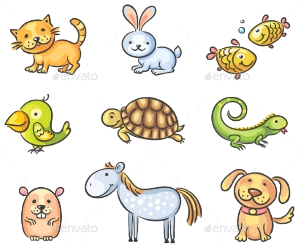 GraphicRiver Cartoon Pet Animals 9606986