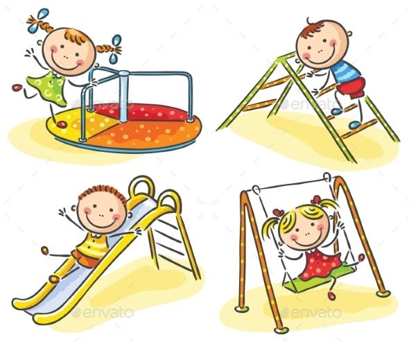 GraphicRiver Kids on Playground 9607039