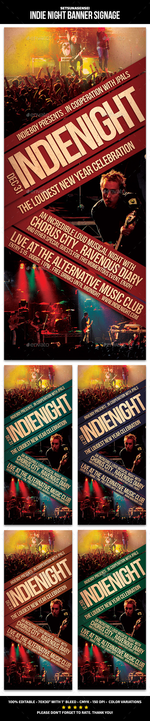 Indie Night Banner Signage