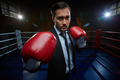 Businessman on boxing rink - PhotoDune Item for Sale
