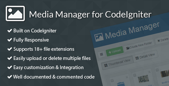 CodeCanyon Media Manager for CodeIgniter 9517058