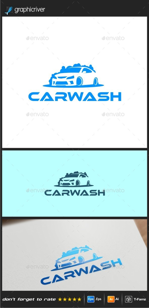 GraphicRiver Car Wash Logo Templates 9607376