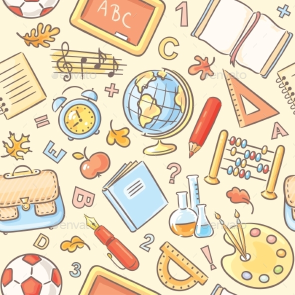 School Objects Pattern