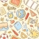 School Objects Pattern - GraphicRiver Item for Sale