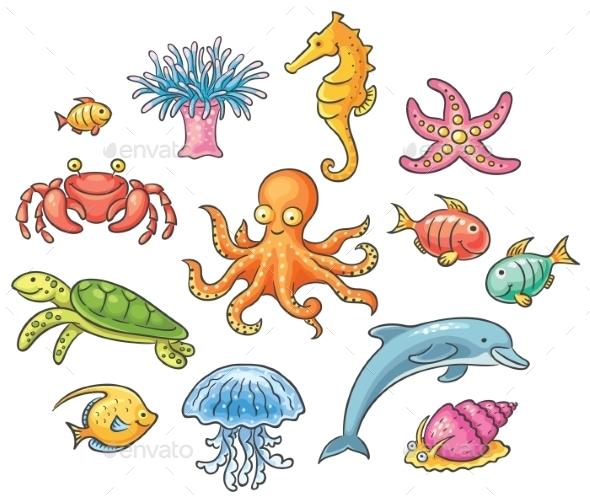 GraphicRiver Sea Animals 9607665