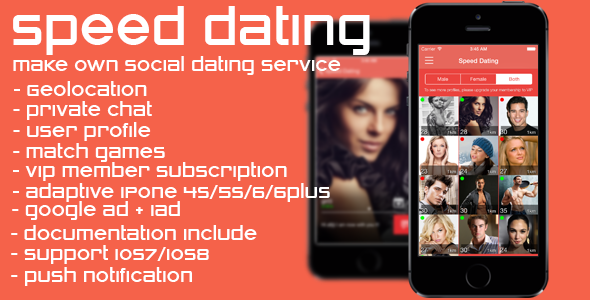 Speed Dating - social dating network - CodeCanyon Item for Sale