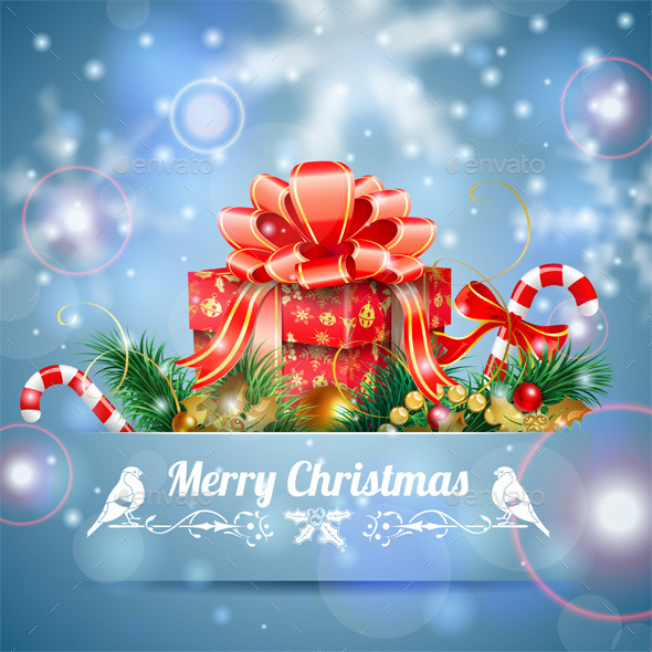 GraphicRiver Christmas Background 9607815