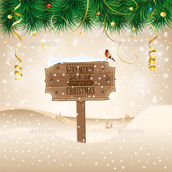 GraphicRiver Christmas Background 9607935