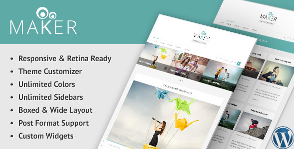 ThemeForest Maker Responsive WordPress Blog Theme 9502659
