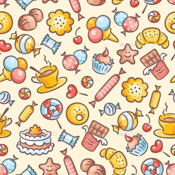 GraphicRiver Sweets Pattern 9608086