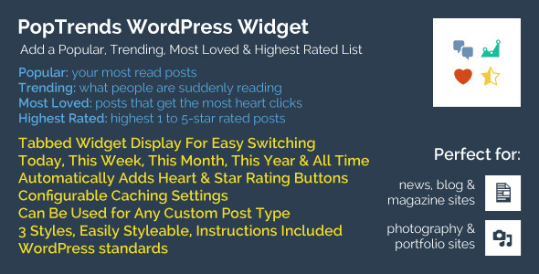 CodeCanyon PopTrends Widget Popular Trending Rating Lists 9608338