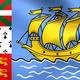 Flag of Saint Pierre and Miquelon, France. - PhotoDune Item for Sale