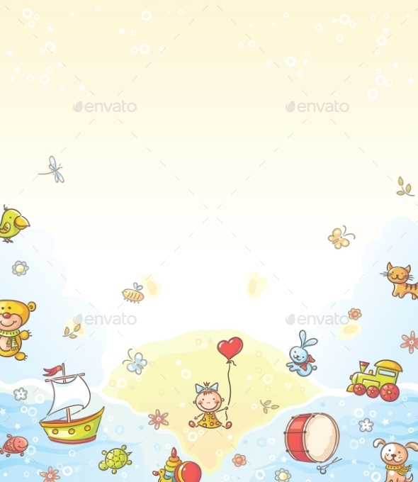 GraphicRiver Toys Background 9608458