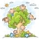 Kids playing in the Tree - GraphicRiver Item for Sale