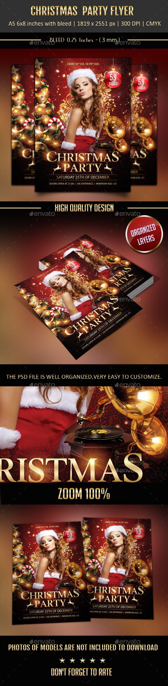 GraphicRiver Christmas Party Flyer 9559511