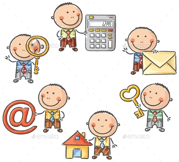GraphicRiver Businessman with Web Symbols 9608771