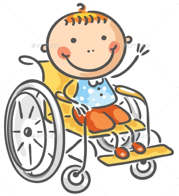 GraphicRiver Friendly boy in a wheelchair 9608783