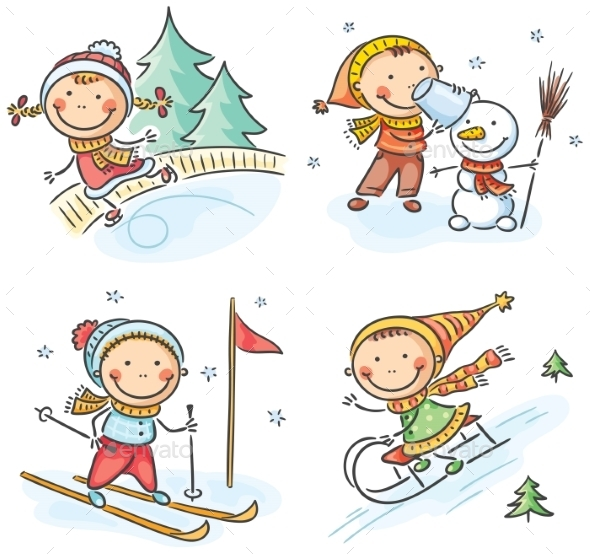 GraphicRiver Outdoor Winter Activities 9608796