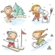 Outdoor Winter Activities - GraphicRiver Item for Sale