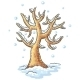 Winter tree drawing - GraphicRiver Item for Sale
