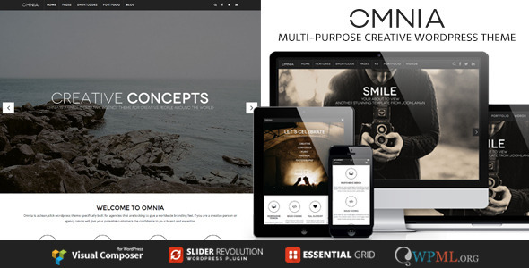 ThemeForest OMNIA Multipurpose Creative Wordpress Theme 9608839