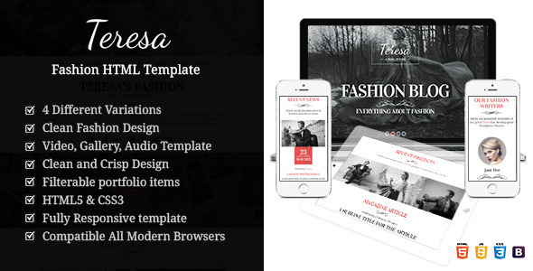 ThemeForest Teresa A One And Multi Page Fashion HTML Template 9472582