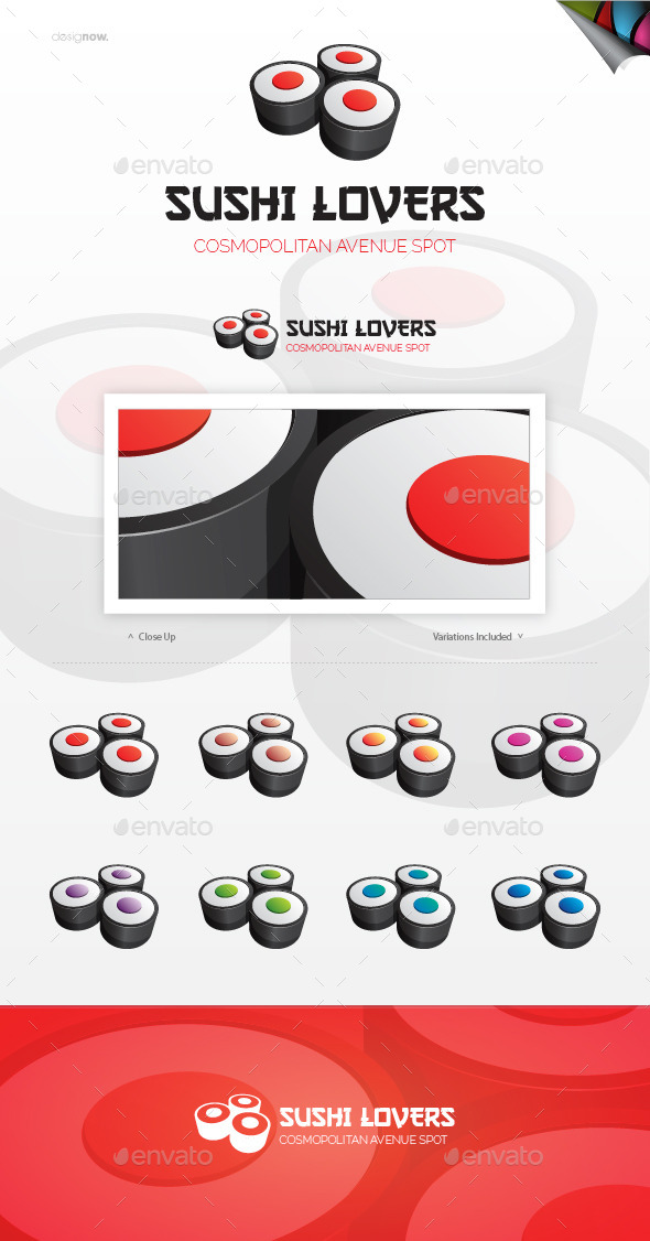 GraphicRiver Sushi Lovers Logo 9608933