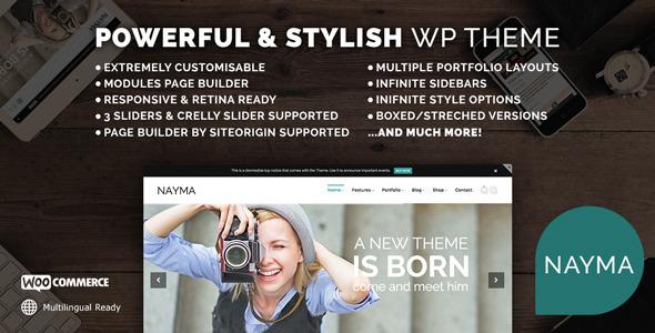 Nayma - Responsive Multi-Purpose WordPress Theme - Corporate WordPress