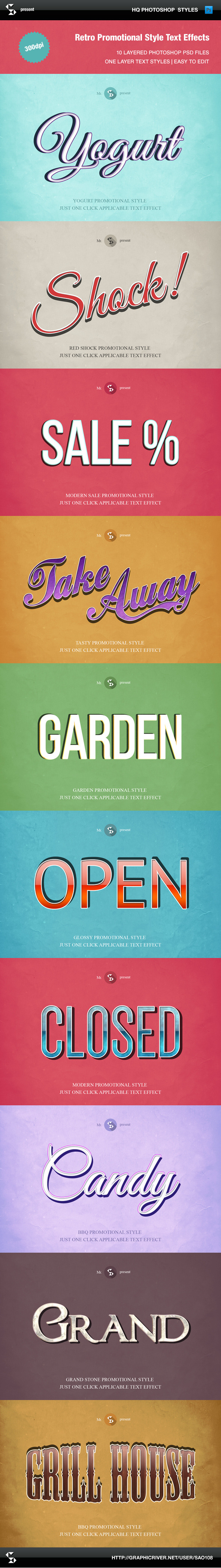 GraphicRiver Retro Style Promotional Text Effects 9609033