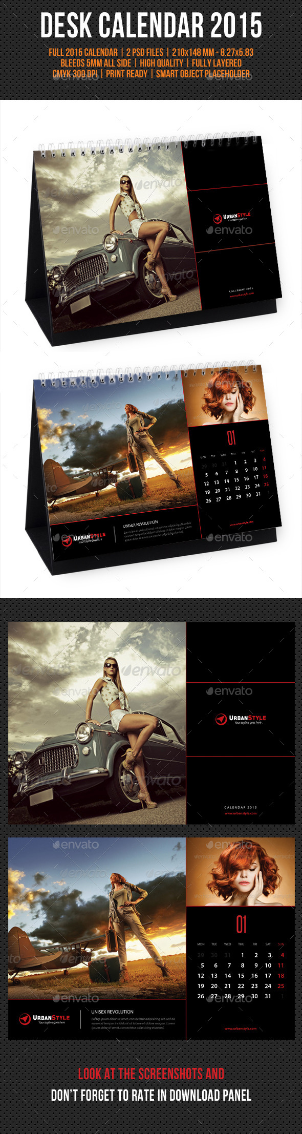 GraphicRiver Creative Desk Calendar 2015 V03 9609039