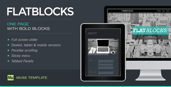 Flatblocks - One Page Muse Template