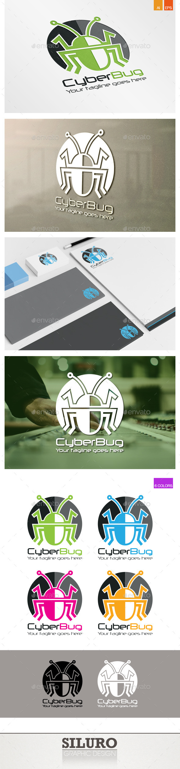 GraphicRiver Cyber Bug Logo 9609096
