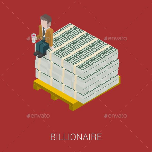 GraphicRiver Flat 3D Isometric Billionaire 9609229