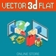 Flat 3D Isometric E-Commerce Web Infographic - GraphicRiver Item for Sale