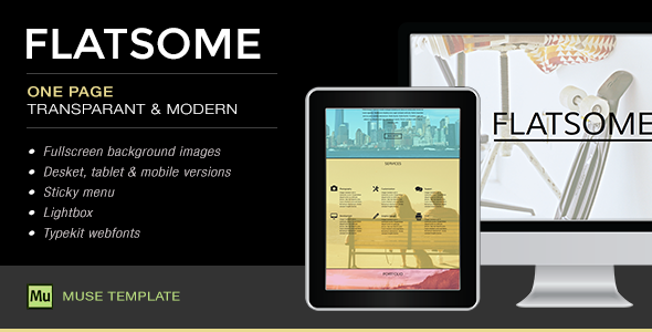 Flatsome - One Page Muse Template - Creative Muse Templates