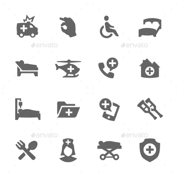GraphicRiver Medical Transportation Icons 9609370