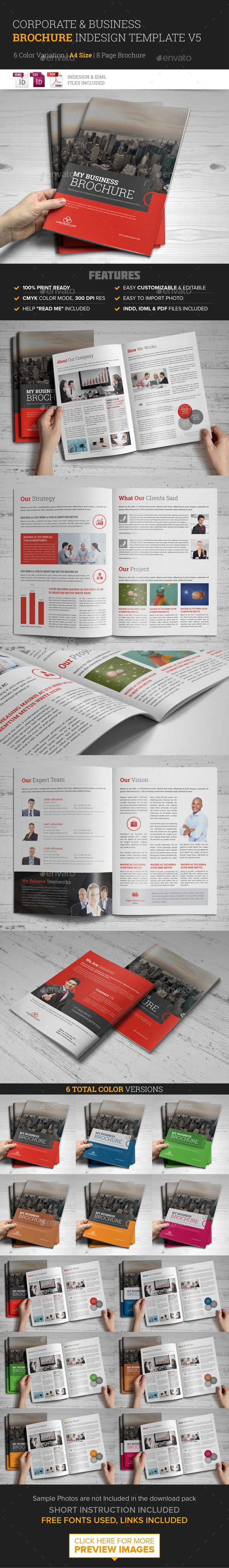 GraphicRiver Corporate Multipurpose Brochure Template v5 9609415