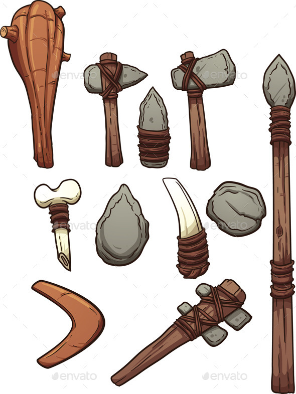 GraphicRiver Prehistoric Weapons 9609427