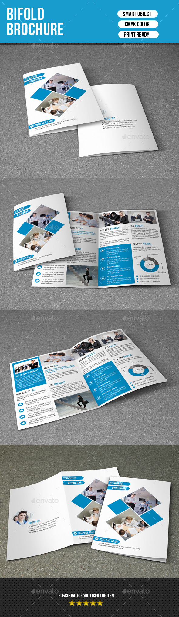 GraphicRiver Bifold Business Brochure-V164 9609428