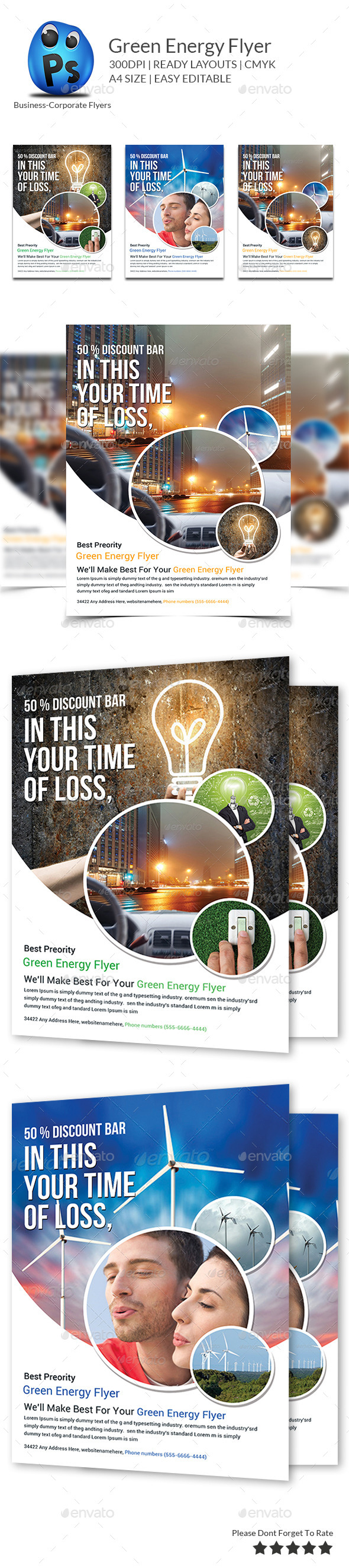 GraphicRiver Green Energy Save Flyer Template 9609430