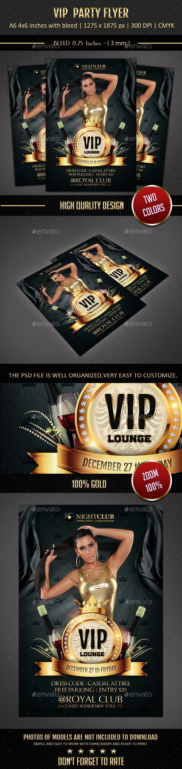 GraphicRiver Vip Flyer 9559325